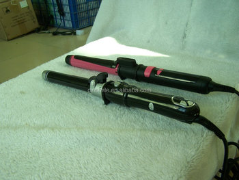 Hot selling v&g hair straightener and curler lcd blue hair lcd magic leverage hair curler