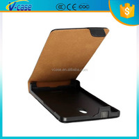Up Down flip black color leather bumper cover case for nokia xl