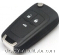 Dxstore car key with LOGO HU100 replacement 3 button remote key 433 mhz id46 chip for opel insignia remote key
