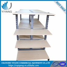 alibaba store Retail Display Rack gondola shelf rack and wood display shelf