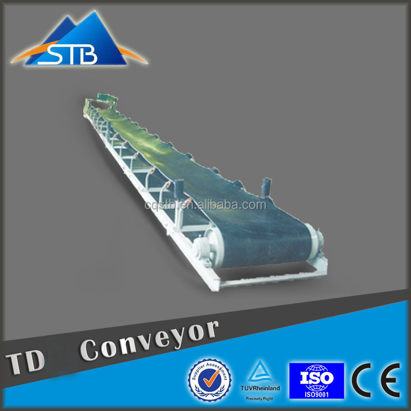 2016 STB China Heavy Material Corrugated Sidewall Belt Conveyor With Tray Roller