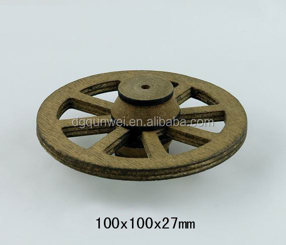 1:12 Scale Dollhouse Furniture Accessories Attachment Wooden Wheels QW60398