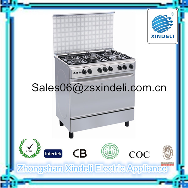 Polished Aluminum burner base free standing gas cooking range with convection oven pizza oven wood electric stove stand 36 inch