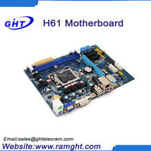 Brand new lga1155 H61ddr3 1333 1066 800 memory types of computer motherboard