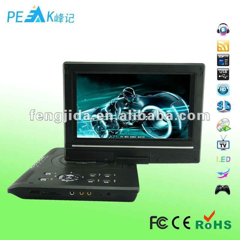9.8 inch portable dvd divx player