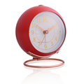 9.5*10.5*7cm SIZE paper dial Y.T. Step Movement Metal Round ALARM CLOCK