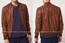 High quality Brown Leather Jacket for men