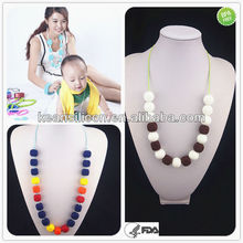 Hot!Silicone Baby Teething Necklace/Unusual Promotional Fashion Kean Jewelry Gifts