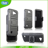 Hybrid Armor Kickstand Case, Hard Plastic PC Case for LG k4 k120 k130 k121