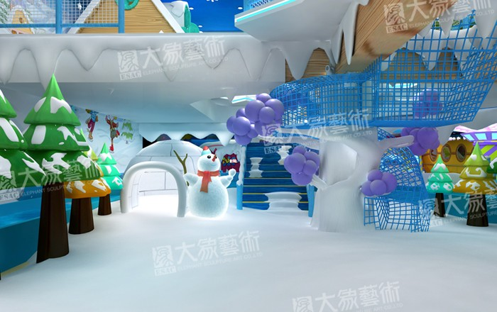 Ice & Snow Indoor Them Park Decoration Design