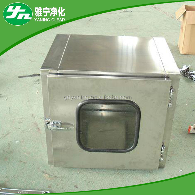 Electronic/Mechanical interlock stainless steel clean transfer window