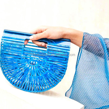 Christmas cheap gift women shoulder bag clear acrylic clutch bag