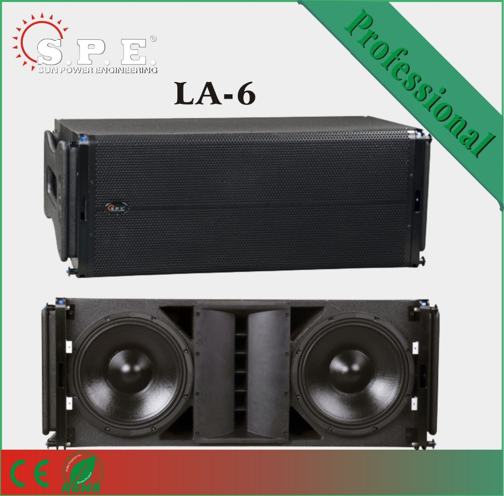 professional 3 way active line array D class amplifier speaker External DSP speaker