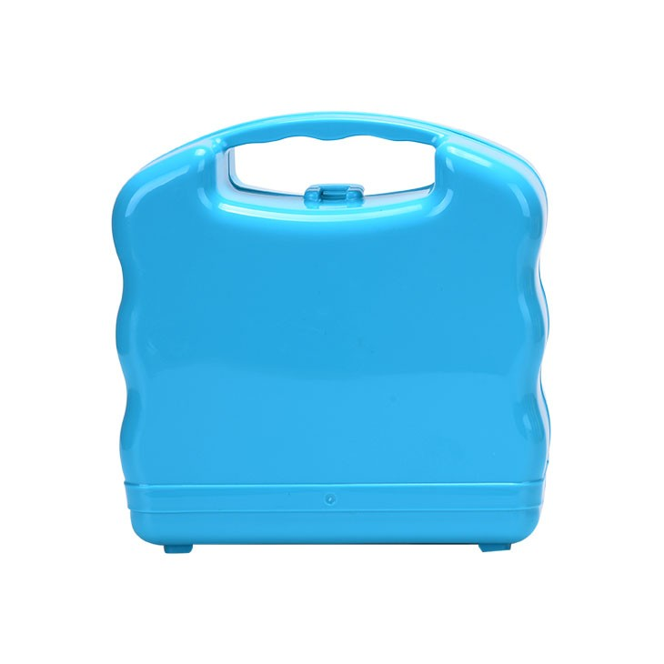 Water bottle and lunch box set with tranparent plastic box packing