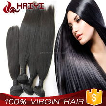 Best Selling Thick Ends Large Stock Factory Peruvian human remy hair no any split ends