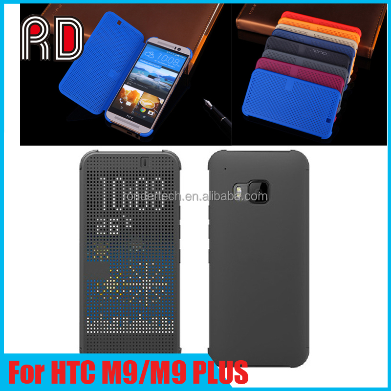 Original Design Intelligence Display Flip Cover Case Smart Touch Cell Phone Case for HTC M9