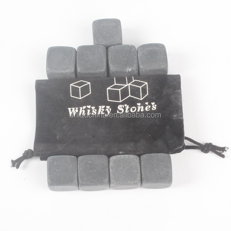 European Top Craft Grey Marble Whiskey Stone Cooler Wine Marble Cube Whiskey Stone With Customlized Packing