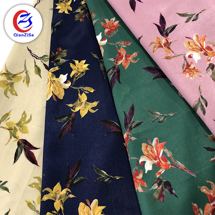 factory direct sale fashionable flower digital printed 100% Polyester chiffon fabric