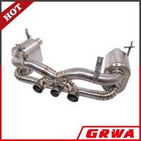 Auto Parts Titanium exhaust system for Ferrari 458 with catalytic converter