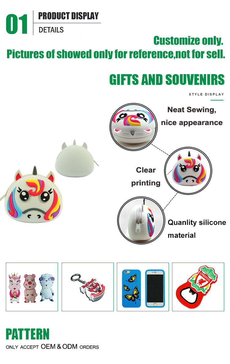 Custom coin holder wallet for promotion mini silicone kids coin purse
