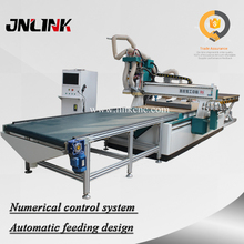 4x8 ft Automatic loading and unloading cnc nesting machine / auto feeding cnc router production line