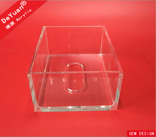 Clear Acrylic Tissue Boxes Magnet Lid Paper Holder