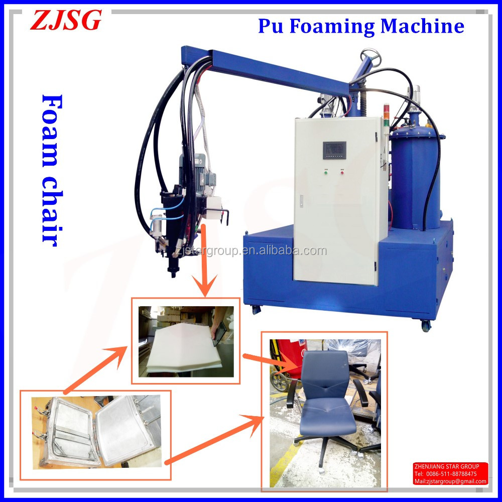 Foaming machine for chairs