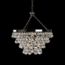 11.20-10 A convertible double canopy design with glass baubles Bling Convertible Chandelier Quality Choice