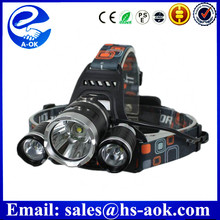 High power brightness camping flashlight 15w 1000lm rechargeable Led headlamp 2015 new hot sell