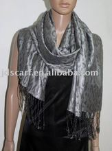 JDP-301_13#: scarf with metallic leopard pattern