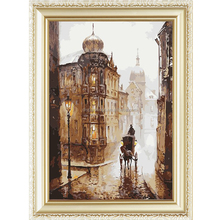 Europe style scenery pattern abstract paint by number kits oil painting