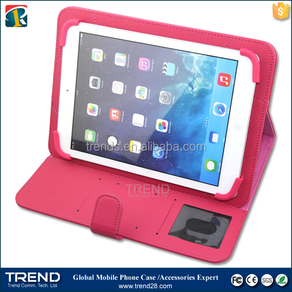folding universal stand leather cover case for ipad tablet