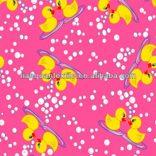 Cute Ducks Printed Flannel Fabric for Baby Blanket