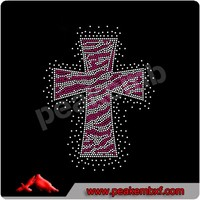 Nice cross rhinestone trimming,cross crystal rhinestone applique