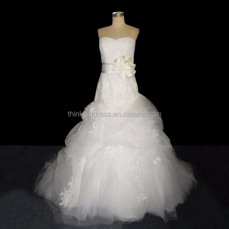 High Quality Dropship Custom Made Lace Tulle Wedding Dress for Fat Ladies