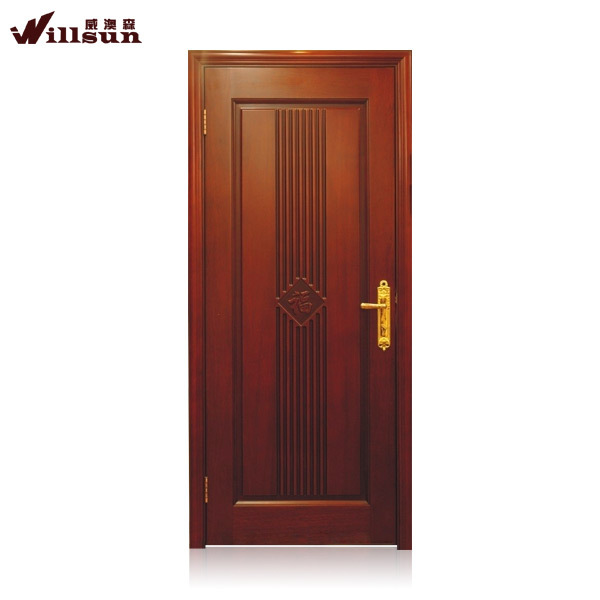 Timber door leaf with nature face panel door leaf