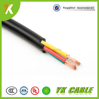 Stranded copper flexible pvc electric wire 3x2.5mm2 uv resistant cable