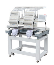 FUWEI 2 head garment embroidery machine used dahao software /cap embroidery machines