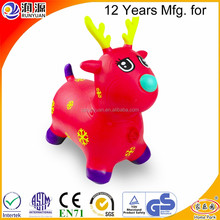 Merry Christmas deer inflatable jumping deer ECO-friendly PVC jumping animal hopping toys