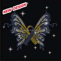 Beautiful butterfly Rhinestone Design for Dresses FY 3 (8)