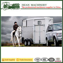 China top quality Horse Trailer 2 axles Deluxe 2 horse angle load horse trailer for sale