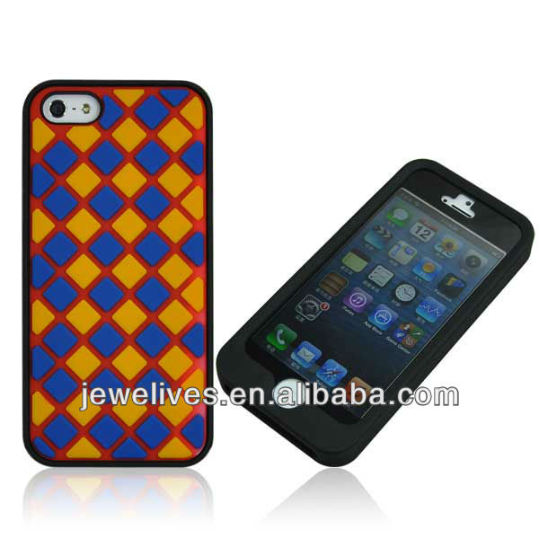 Cute silicone case for iphone5 for water proof and shock proof