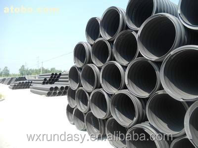 inner ribbed reinforced polyethylene spiral corrugated pipe