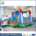 Funny and happy fish inflatable jumping catsle colorful inflatable bouncer with slide