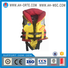Orange Nylon Fabric Child Reflective Life Jacket For Baby