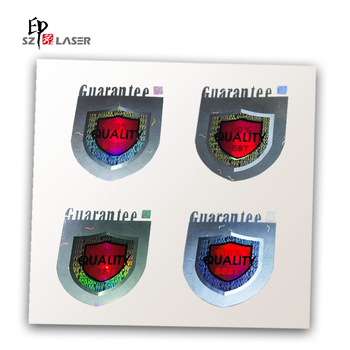 3D Customize Adhesive Holographic Label with Color Printing