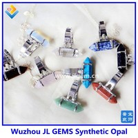 Factory Directly rainbow quartz rings crystal stone rings quartz crystal point ring ( can adjustable )