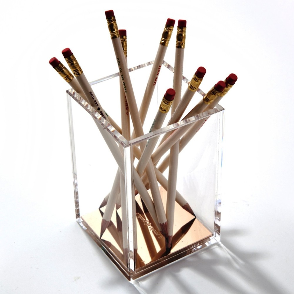 Fashion Transparent Pen Holder Acrylic Pastic, Easy to Clean