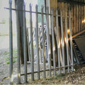 security galvanised palisade fence panel 7' high by 6' wide