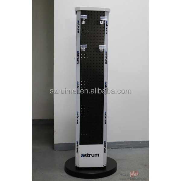 Rotating Metal Floor Standing Pegboard Display Rack